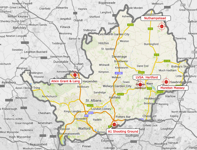img - map of Herts shooting grounds